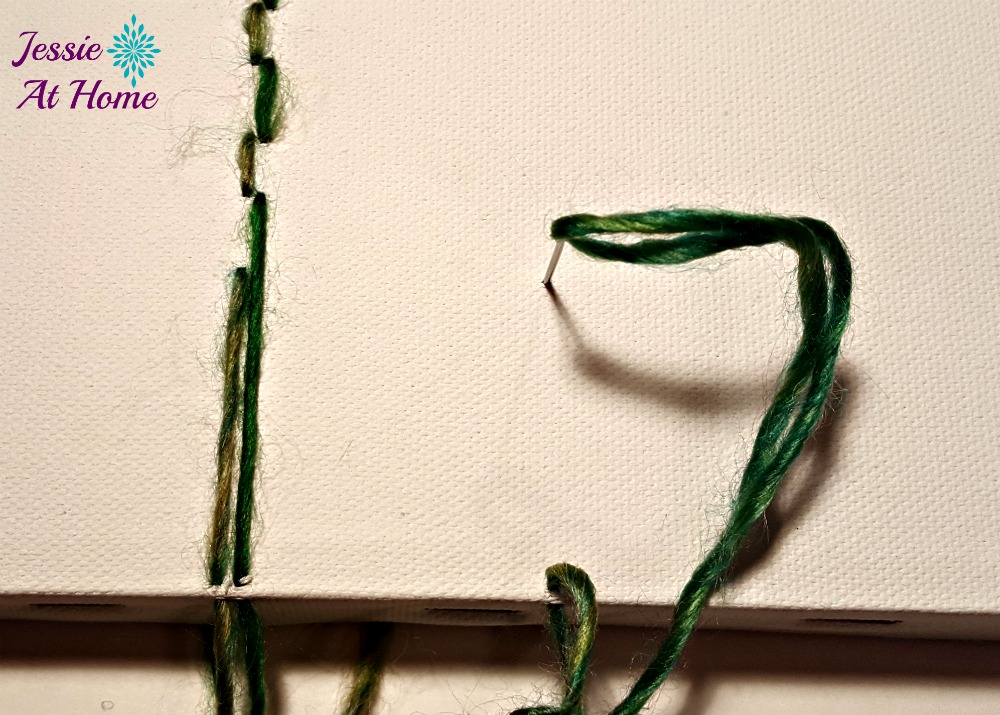 Flower Loom Canvas by Jessie At Home - free tutorial - 5