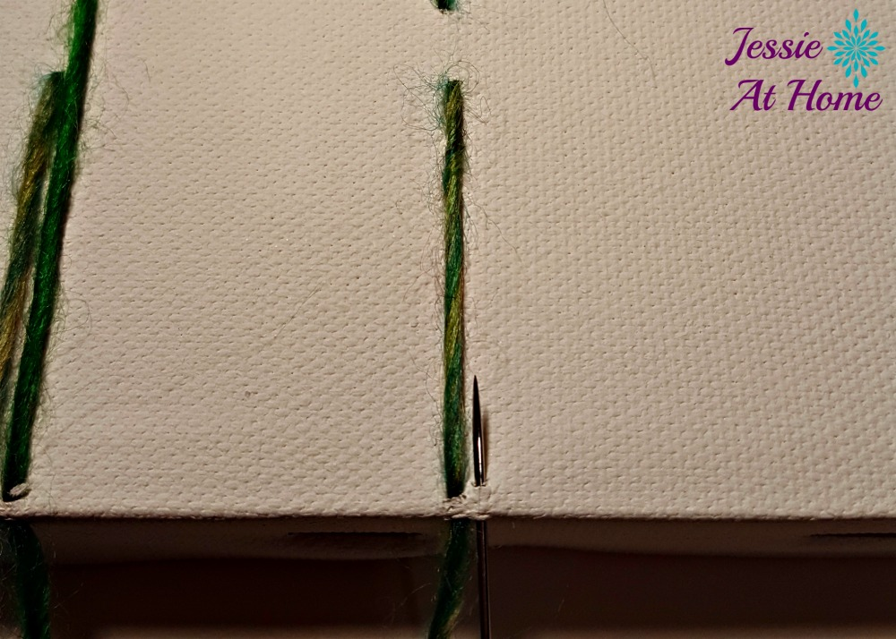 Flower Loom Canvas by Jessie At Home - free tutorial - 7