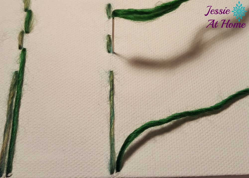 Flower Loom Canvas by Jessie At Home - free tutorial - 8