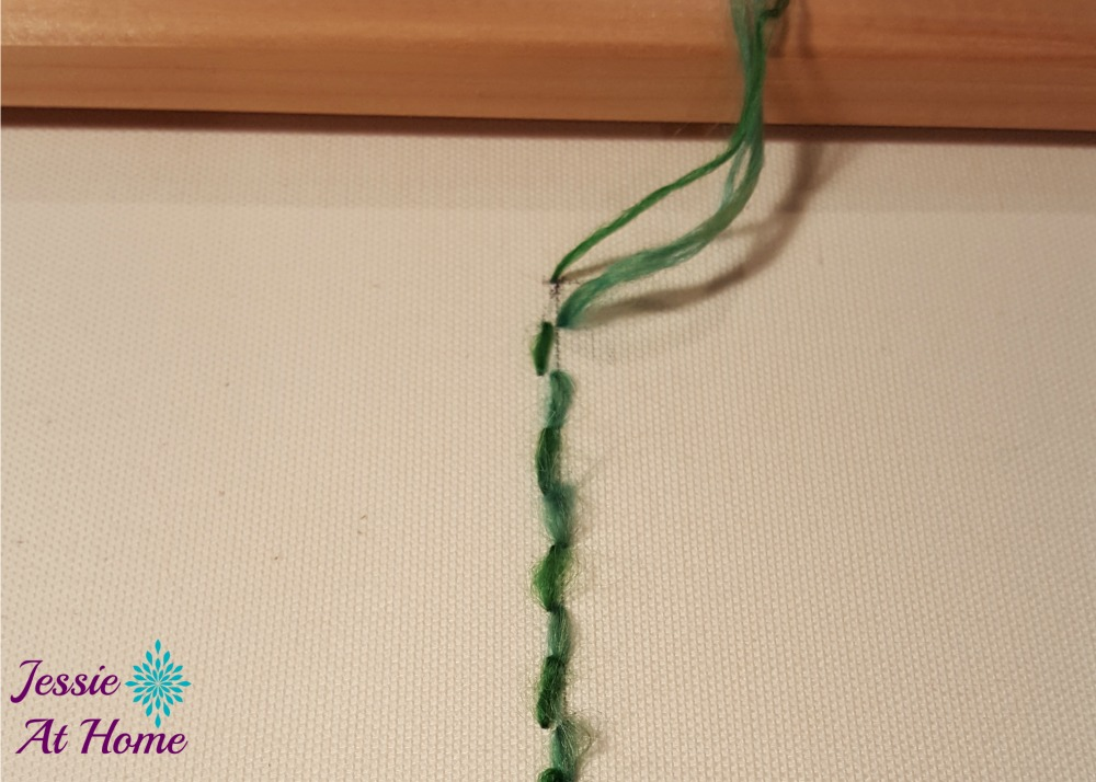 Flower Loom Canvas by Jessie At Home - free tutorial - 9