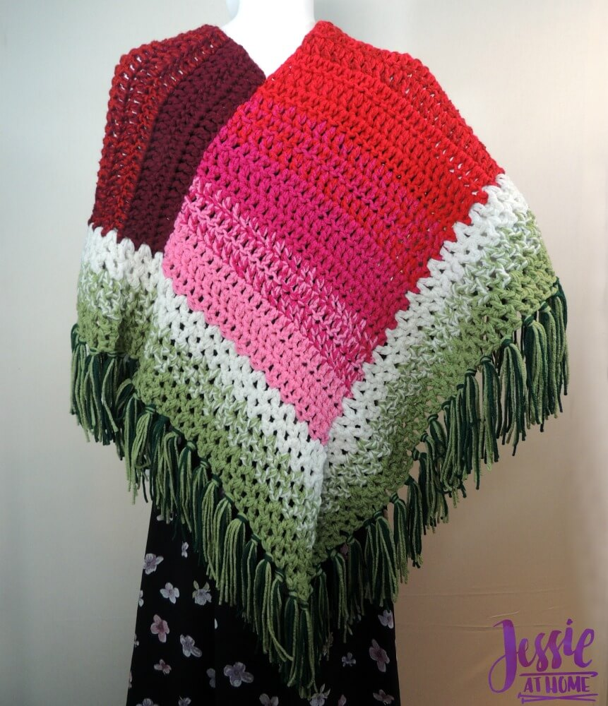 Holiday Poncho - free crochet pattern by Jessie At Home-2