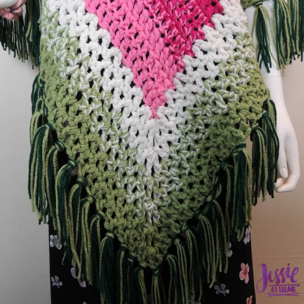 Holiday Poncho - free crochet pattern by Jessie At Home-4