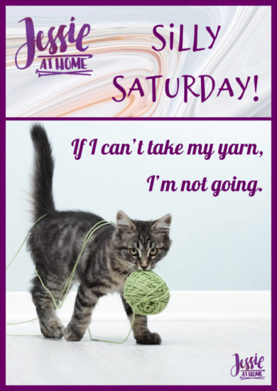 I'm Taking My Yarn - Silly Saturday from Jessie At Home - Pin 1
