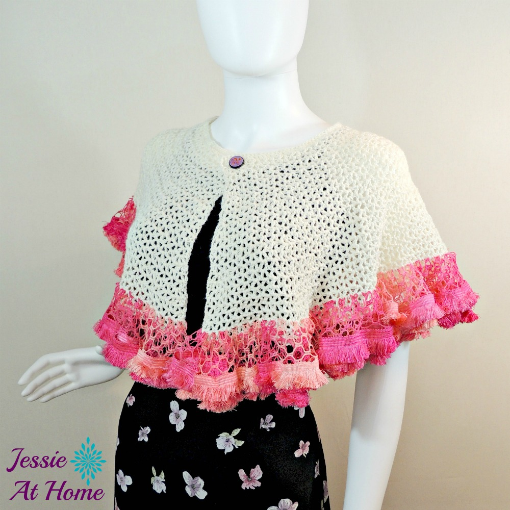 Winter White Sashay Capelet-free crochet pattern by Jessie At Home-1