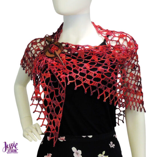 Fall Sparkles Shawl crochet pattern by Jessie At Home - 2