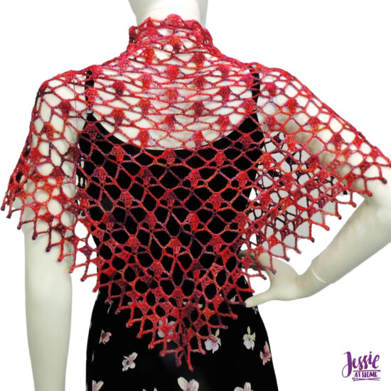 Fall Sparkles Shawl crochet pattern by Jessie At Home - 5