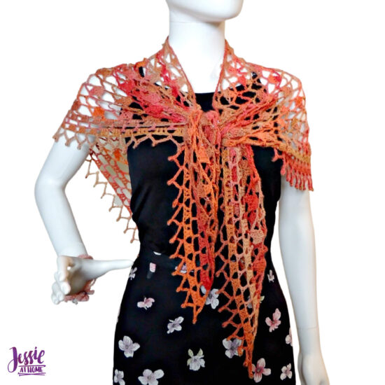 Fall Sparkles Shawl crochet pattern by Jessie At Home - 6