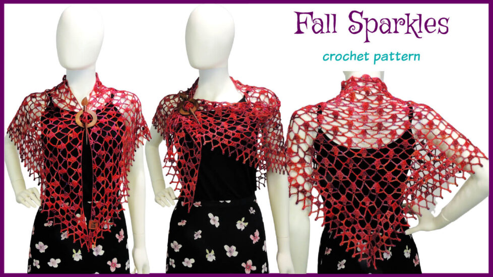Fall Sparkles Shawl crochet pattern by Jessie At Home - Social