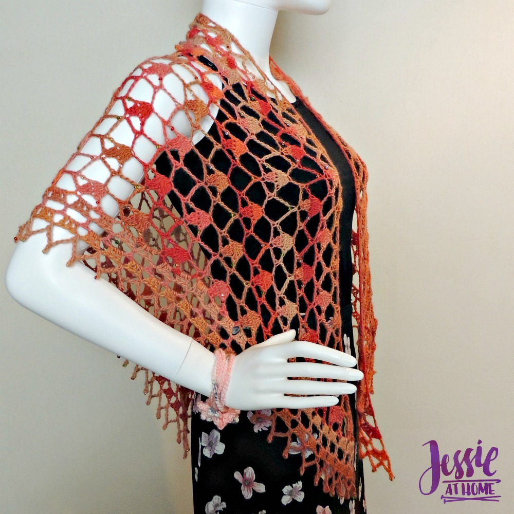 Fall Sparkles Shawl - free crochet pattern by Jessie At Home - 1