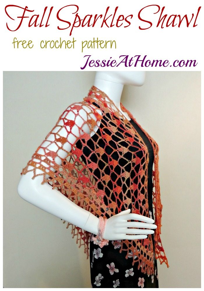 Fall Sparkles Shawl - free crochet pattern by Jessie At Home