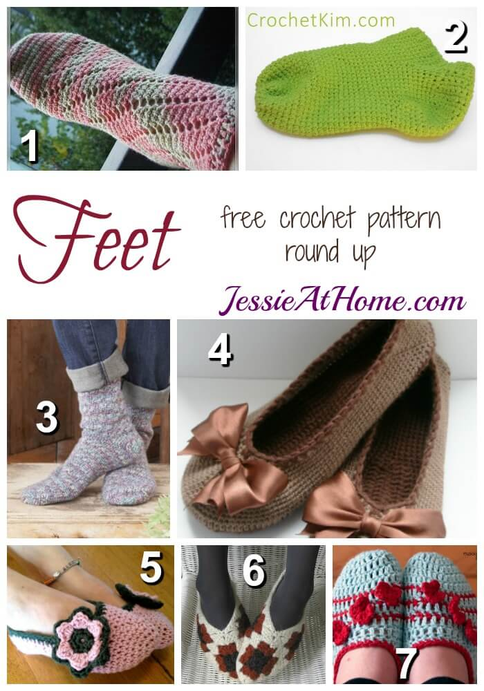 Feet - free crochet pattern round up from Jessie At Home