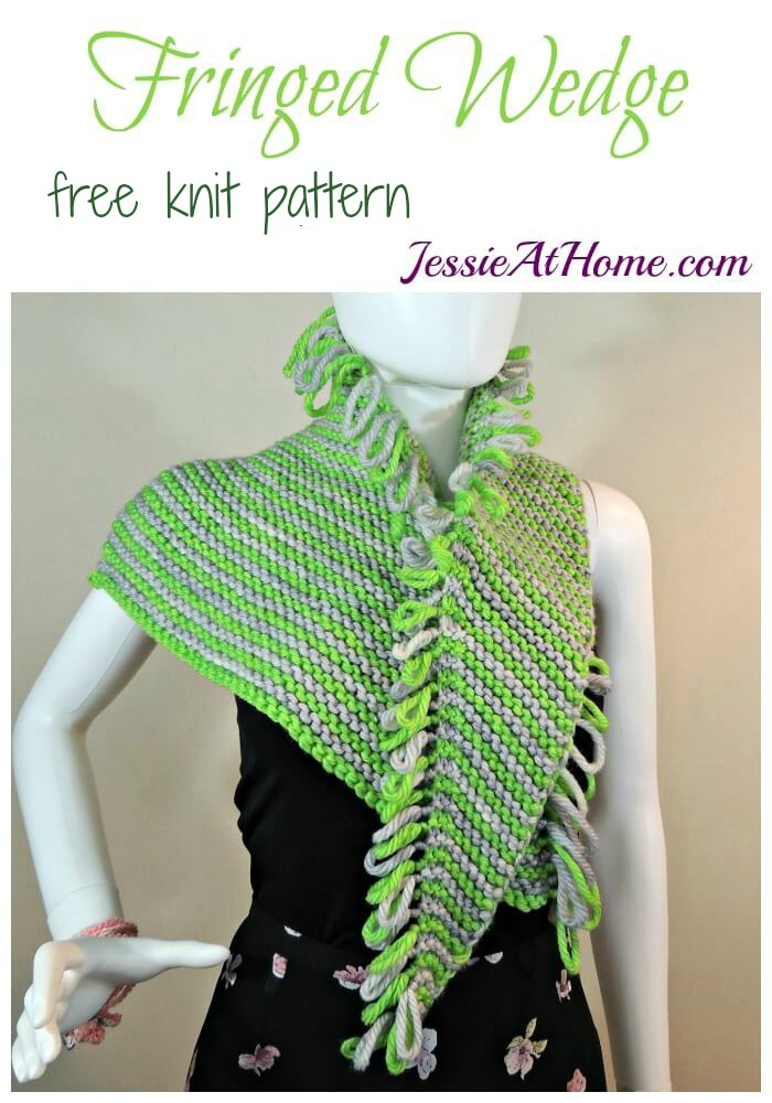 Fringed Wedge - free knit pattern by Jessie At Home