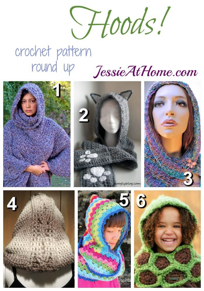 Hoods - free crochet pattern round up from Jessie At Home
