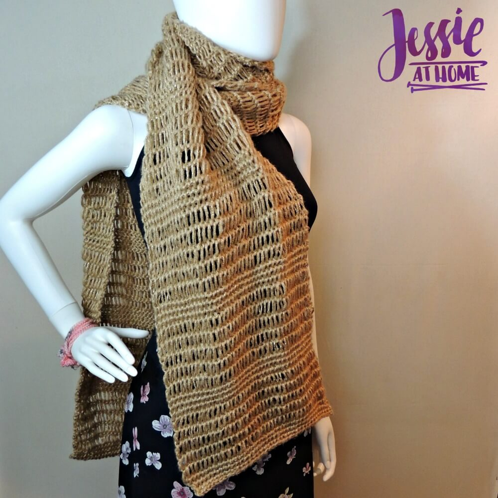 Glitter and Gleam - free Tunisian crochet pattern by Jessie At Home - 1