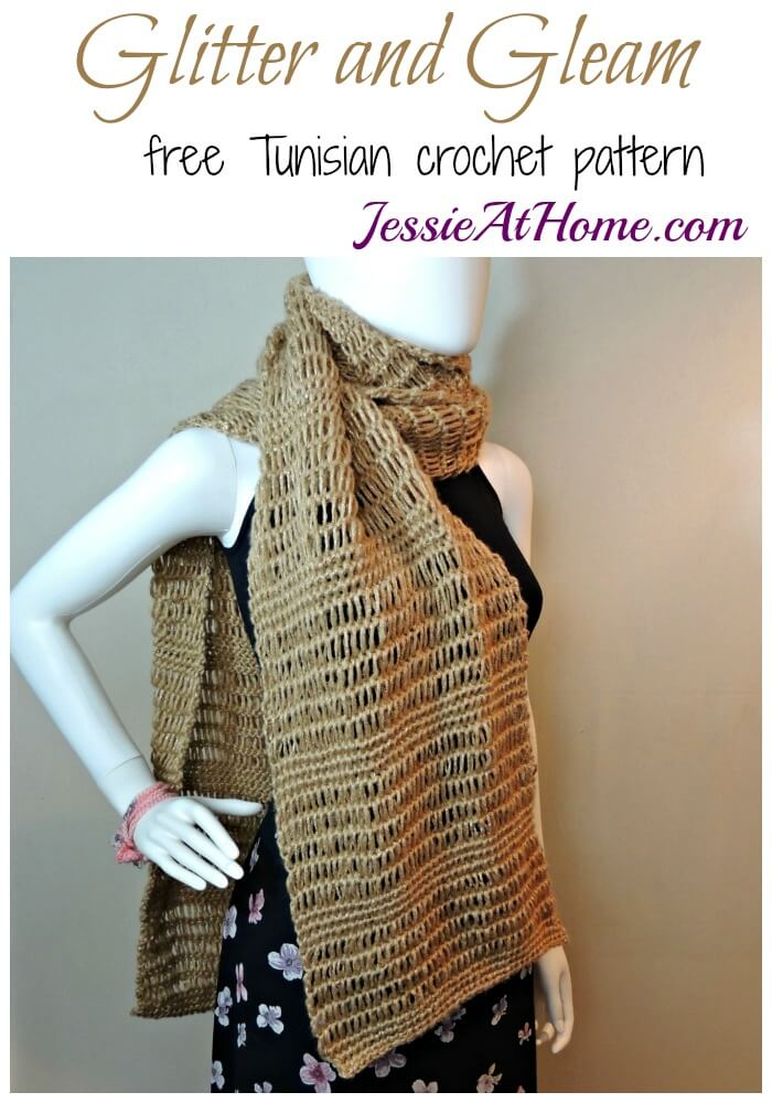 Glitter and Gleam - free Tunisian crochet pattern by Jessie At Home