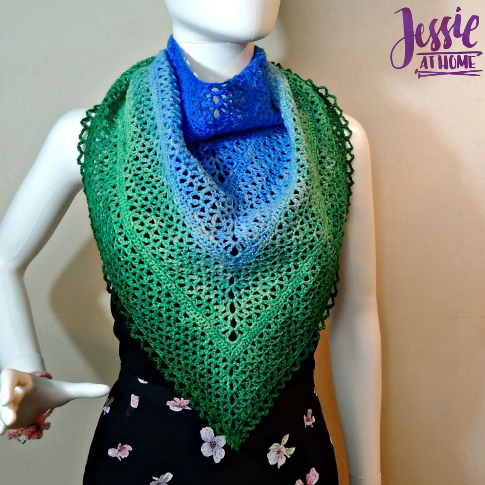 Julie Shawl - free crochet pattern by Jessie At Home - 3