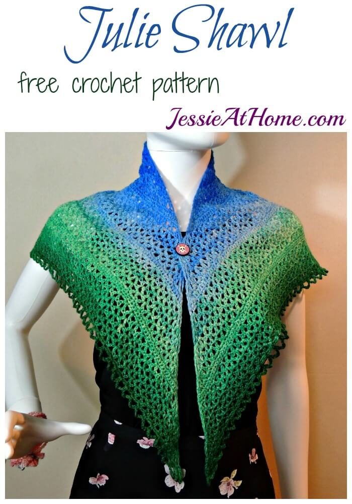 Julie Shawl - free crochet pattern by Jessie At Home