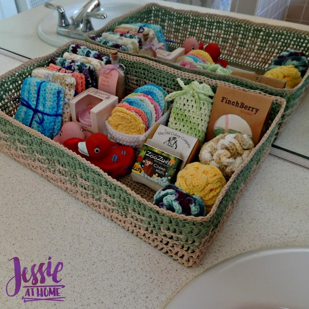 Spa Basket - free crochet pattern by Jessie At Home - 2