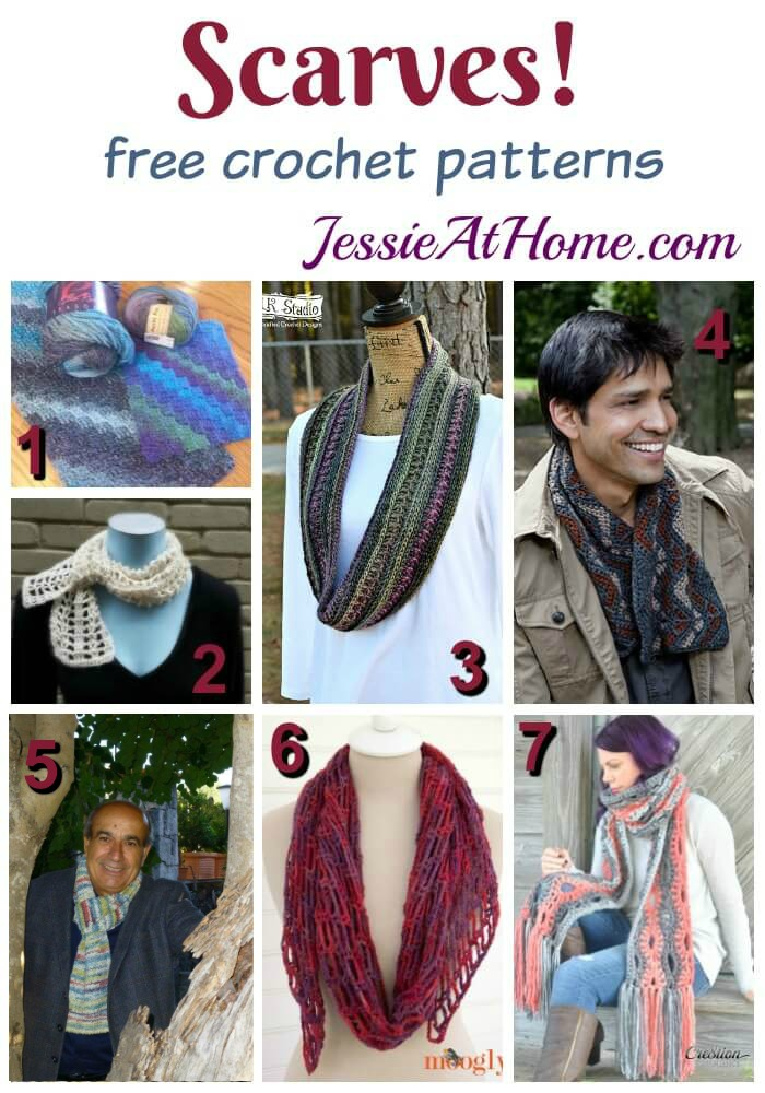 Scarves - free crochet pattern from Jessie At Home
