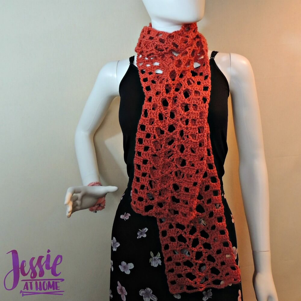 Trellis Scarf - free crochet pattern by Jessie At Home - 3