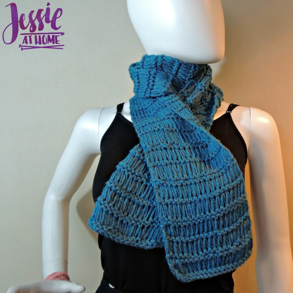 Basic Drop Stitch Scarf free knit pattern by Jessie At Home - 1