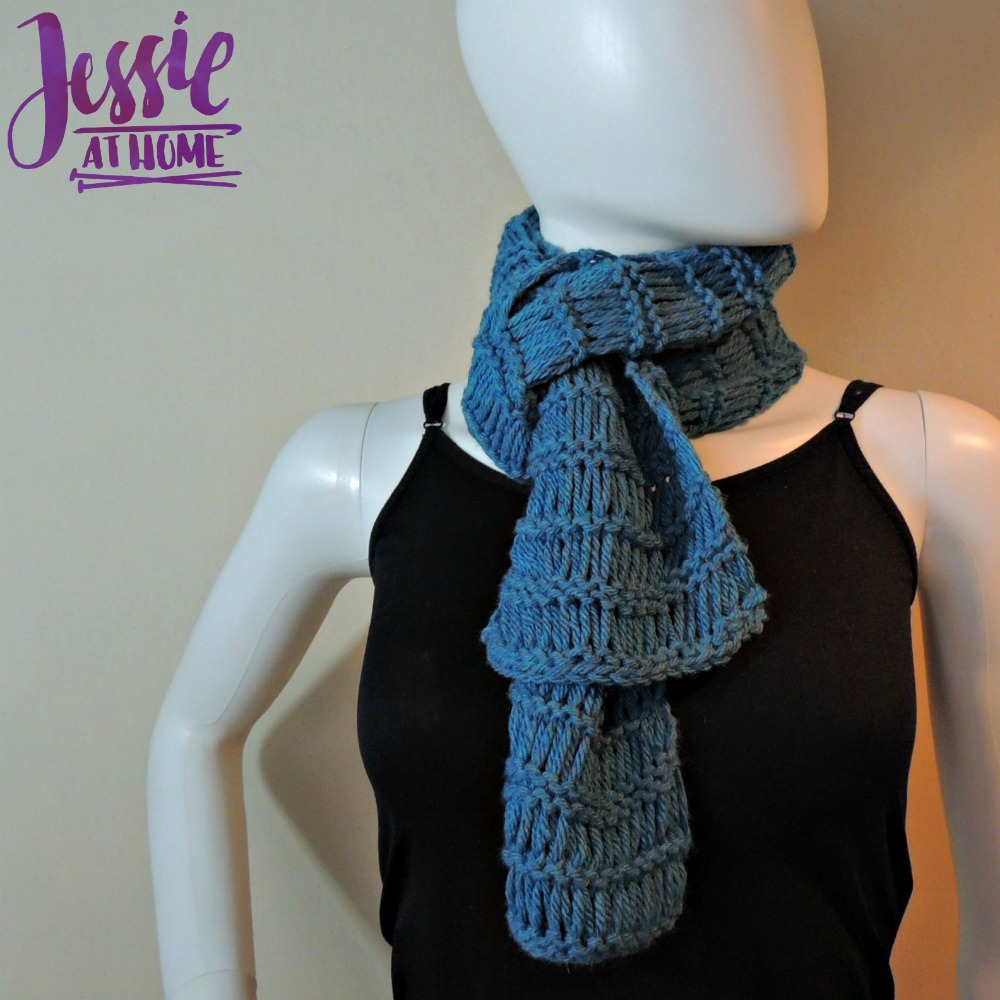 Basic Drop Stitch Scarf free knit pattern by Jessie At Home - 2