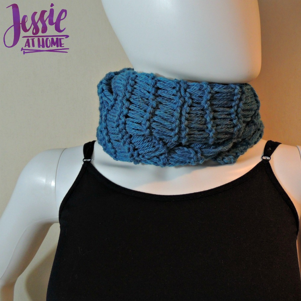 Basic Drop Stitch Scarf free knit pattern by Jessie At Home - 4