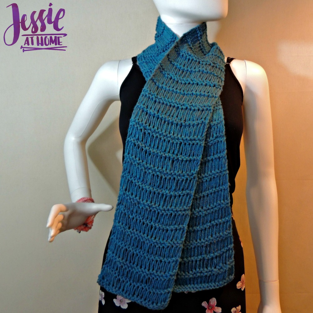 Basic Drop Stitch Scarf free knit pattern by Jessie At Home - 5