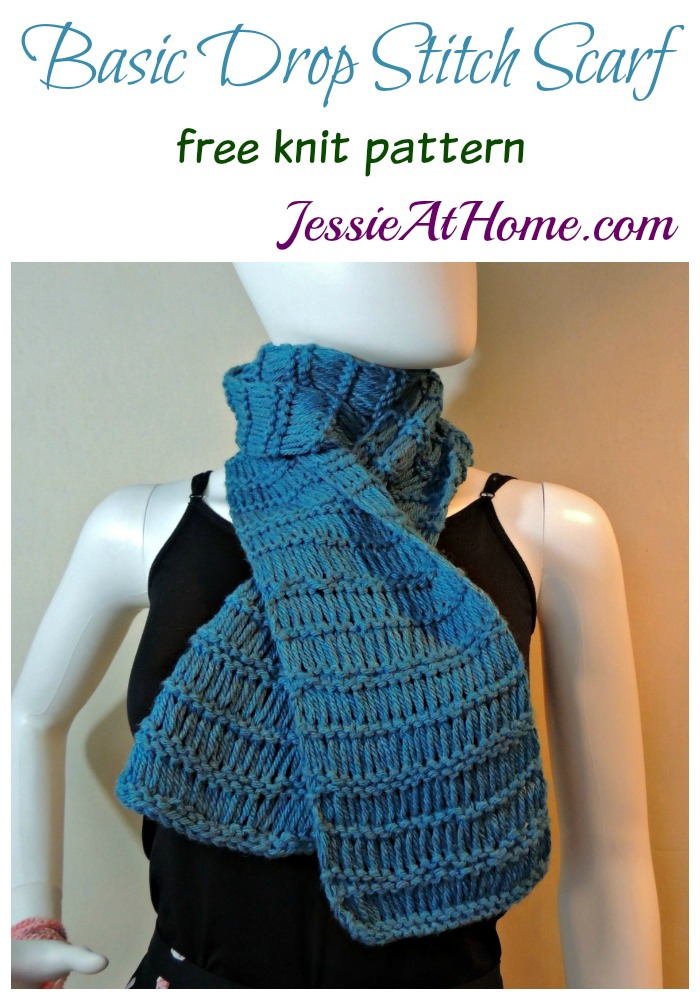 Basic Drop Stitch Scarf free knit pattern by Jessie At Home