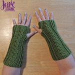 Cabled Mitts free crochet pattern by Jessie At Home - 1