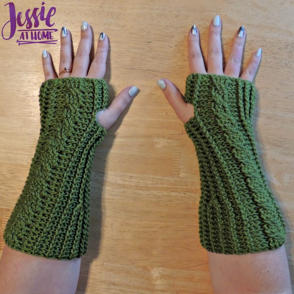 Cabled Mitts free crochet pattern by Jessie At Home - 4