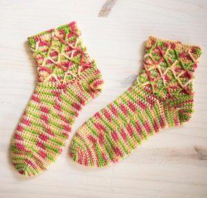 Candied Crossbones Sock Craftsy Crochet Kit