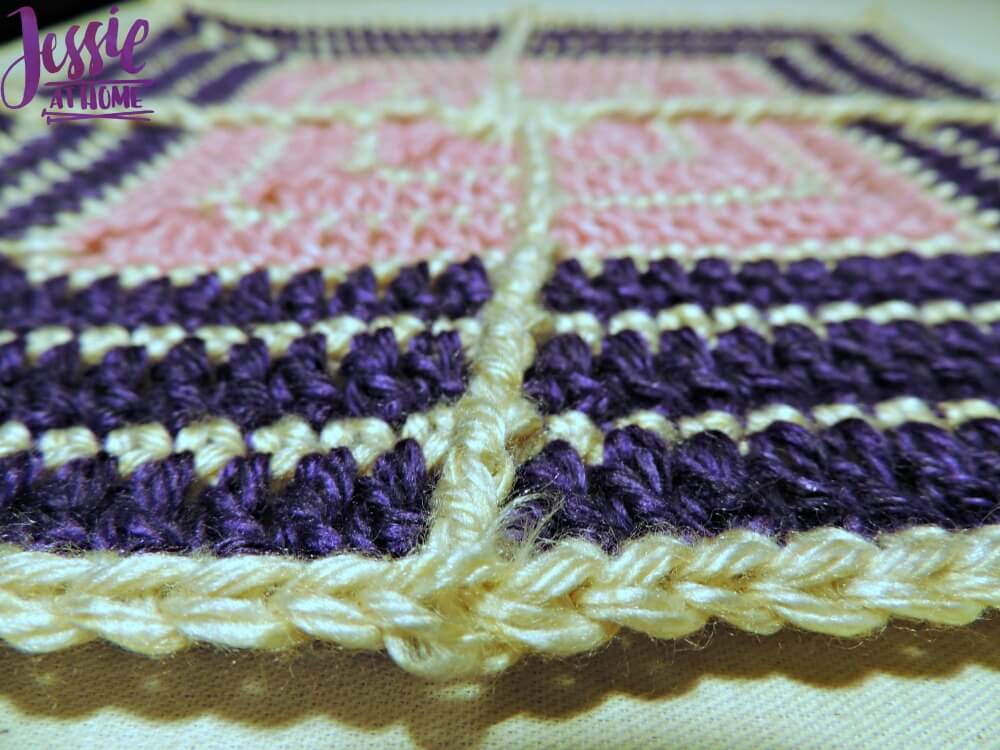 Crossed Square free crochet pattern by Jessie At Home - 2