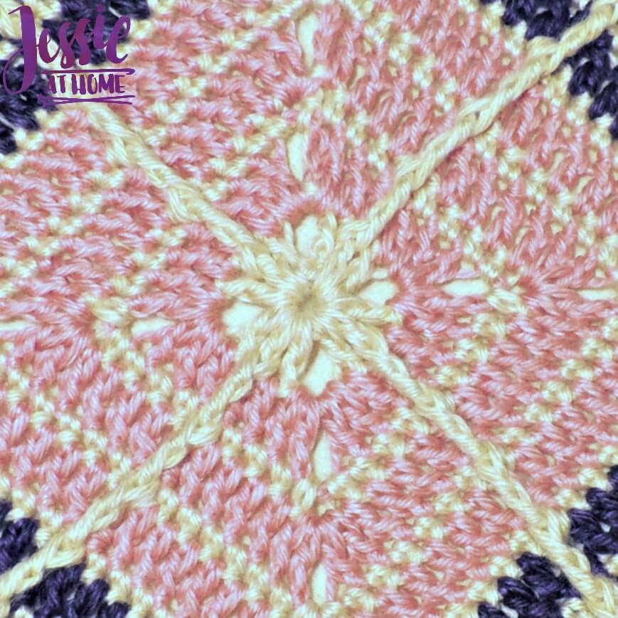 Crossed Square free crochet pattern by Jessie At Home - 3