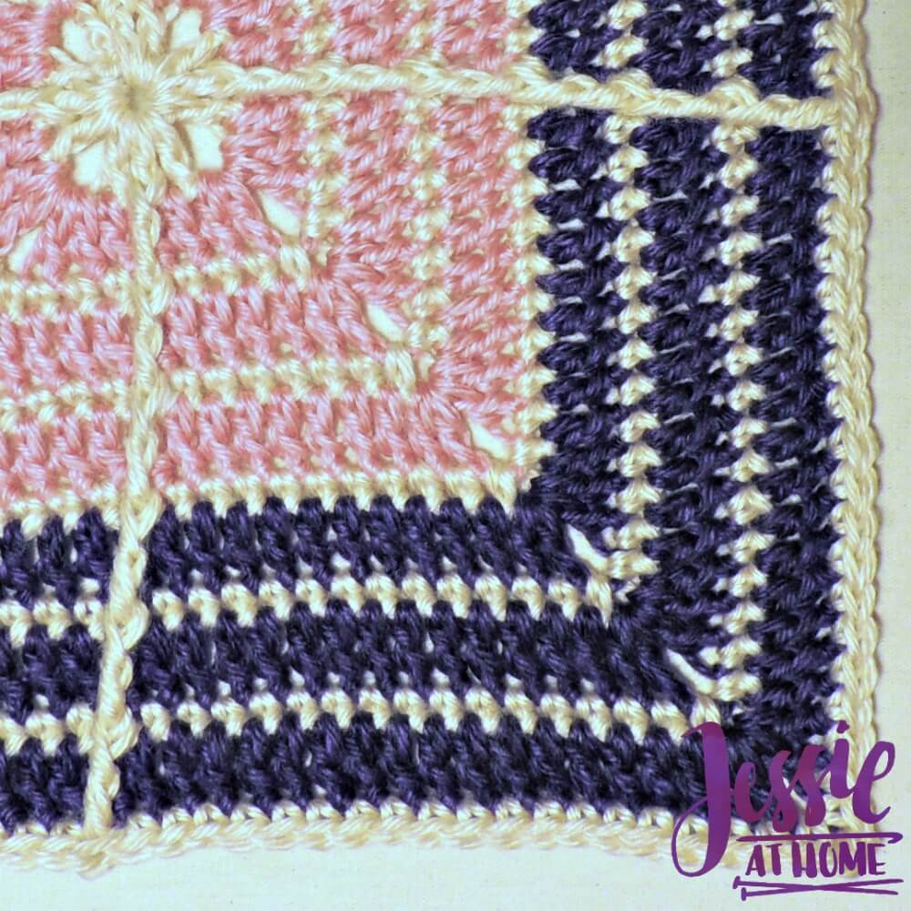 Crossed Square free crochet pattern by Jessie At Home - 4