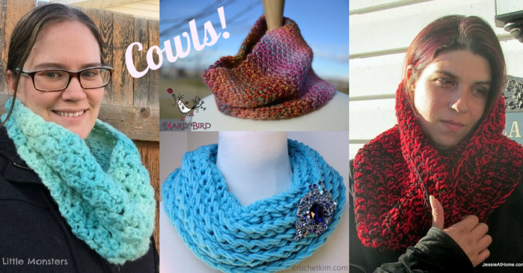 Free Crochet Cowl Patterns Round Up from Jessie At Home