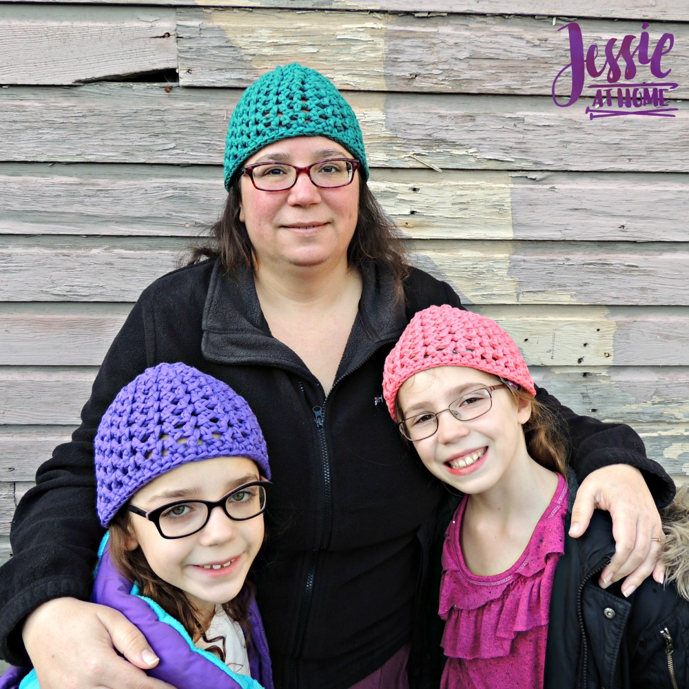 V-Stitch Hats free crochet pattern by Jessie At Home - 2