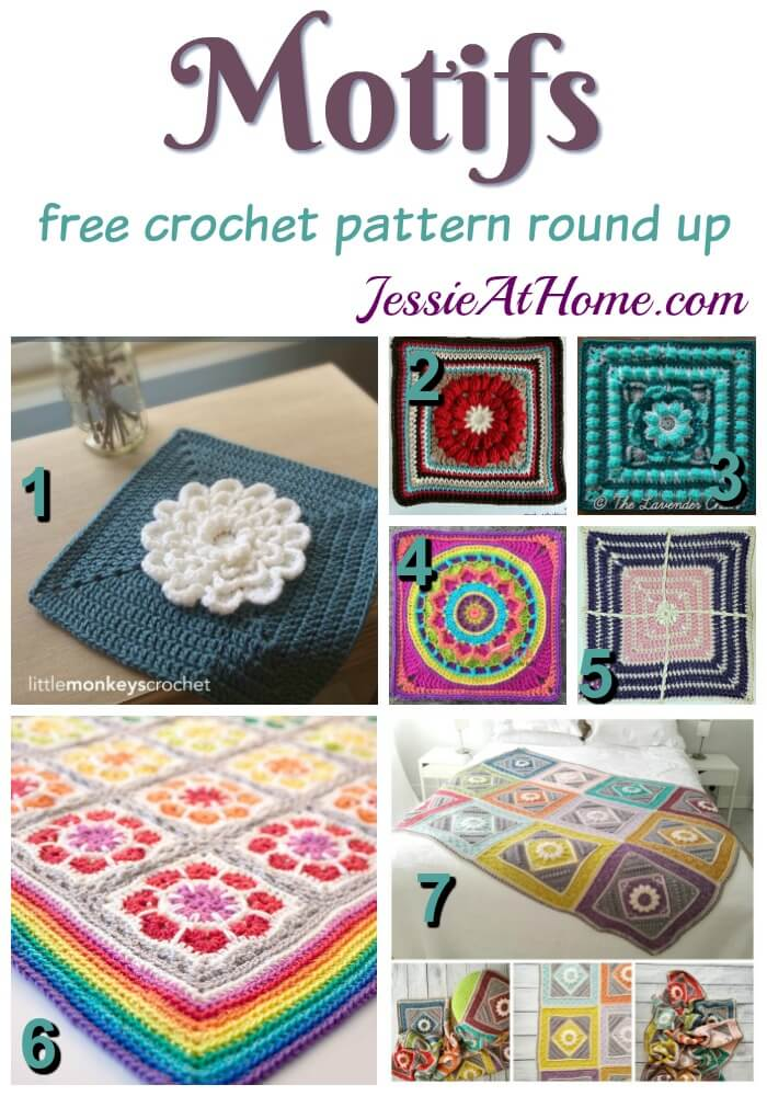 Motifs free crochet pattern round up from Jessie At Home