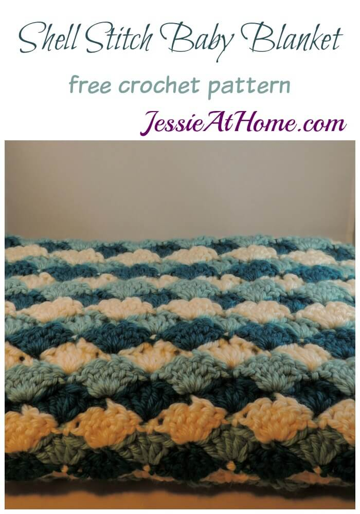 Shell Stitch Baby Blanket free crochet pattern by Jessie At Home