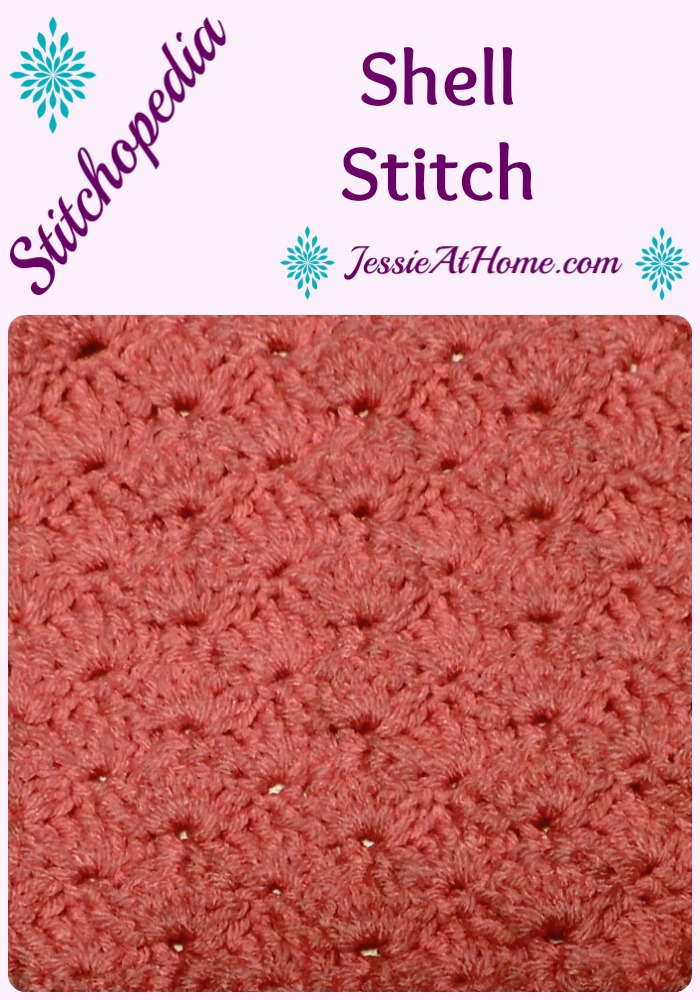 Stitchopedia Shell Stitch from Jessie At Home - Pinterest