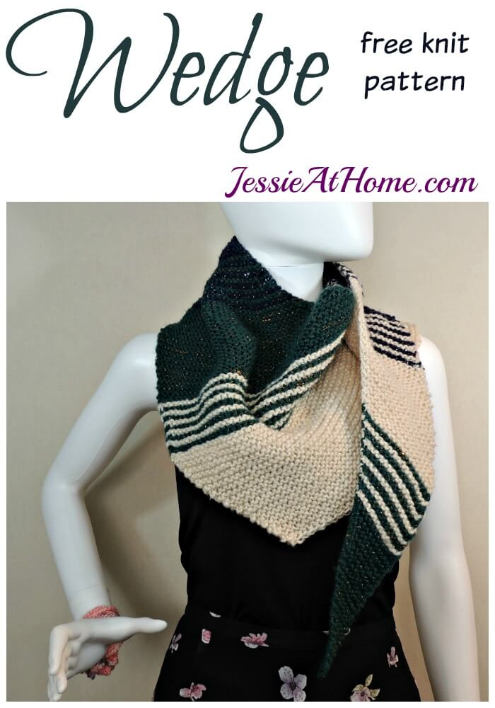 Wedge free knit pattern by Jessie At Home