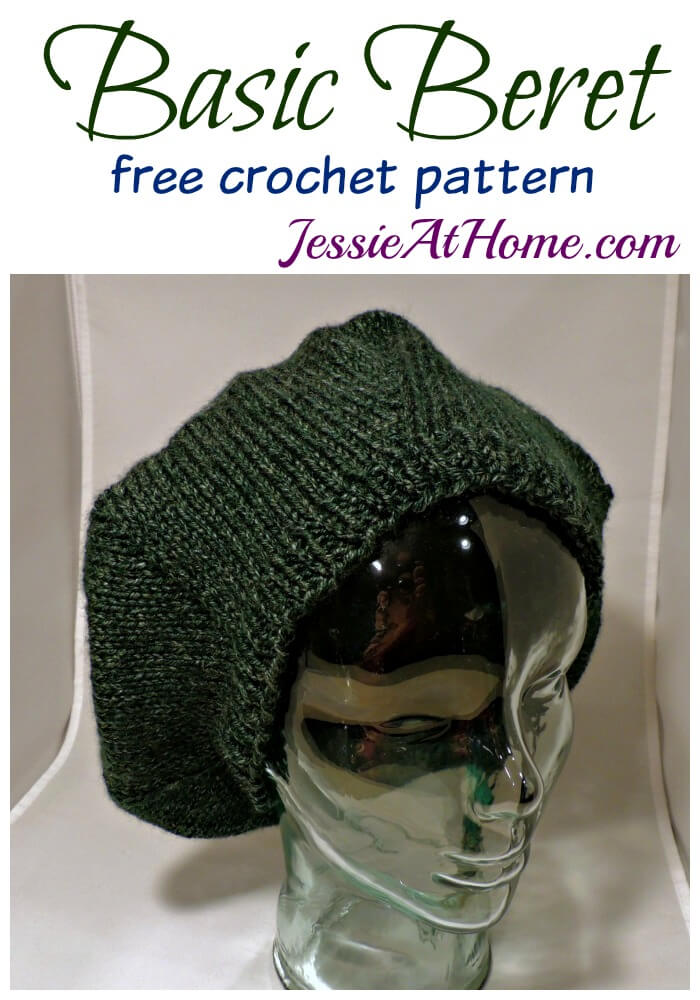 Basic Beret free crochet pattern by Jessie At Home