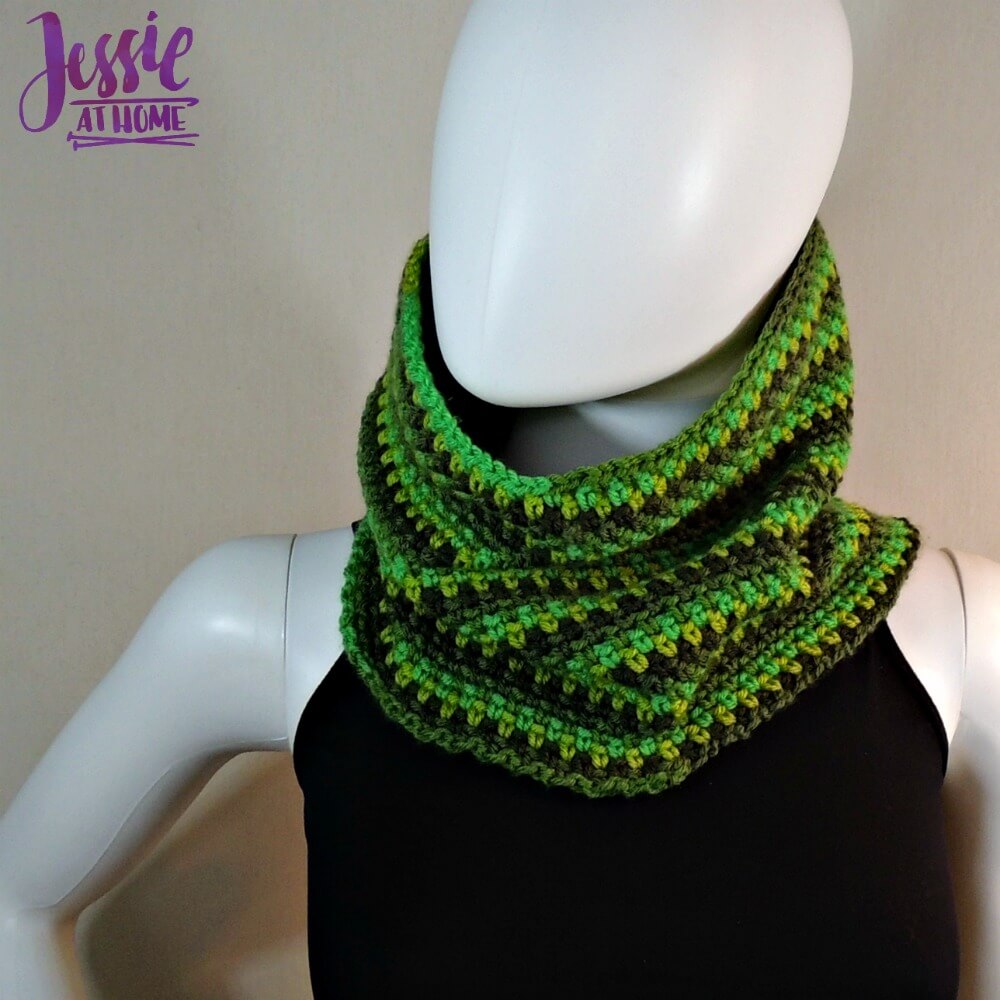 Green Gradient Cowl free corhcet pattern by Jessie At Home - 1