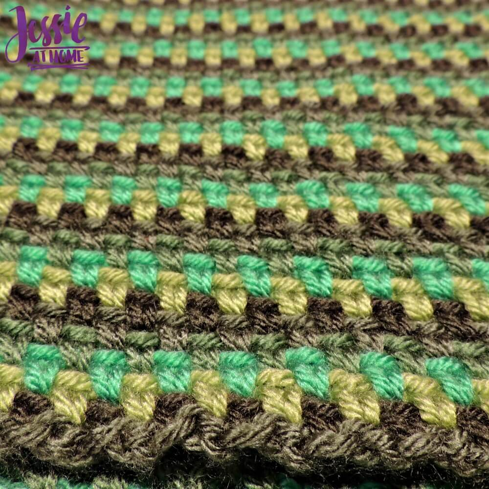 Green Gradient Cowl free corhcet pattern by Jessie At Home - 3
