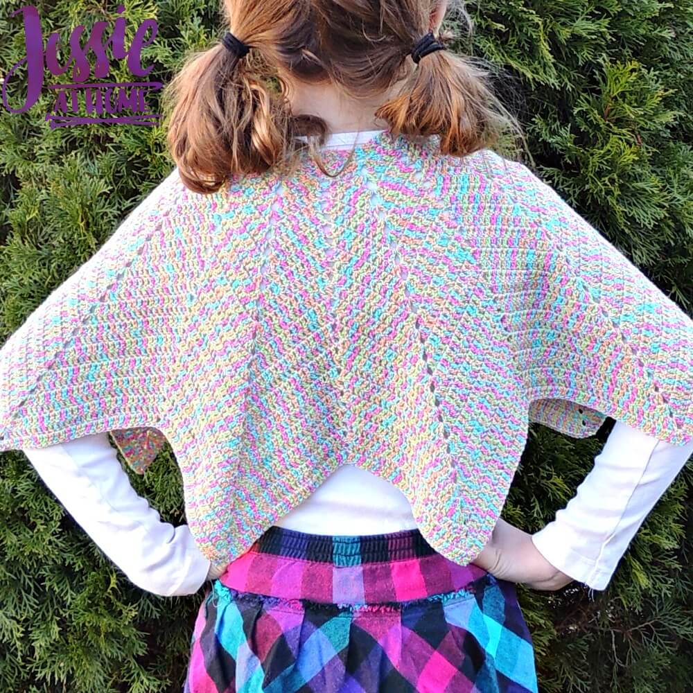 Rainbow Hero Cape free crochet pattern by Jessie At Home - 4