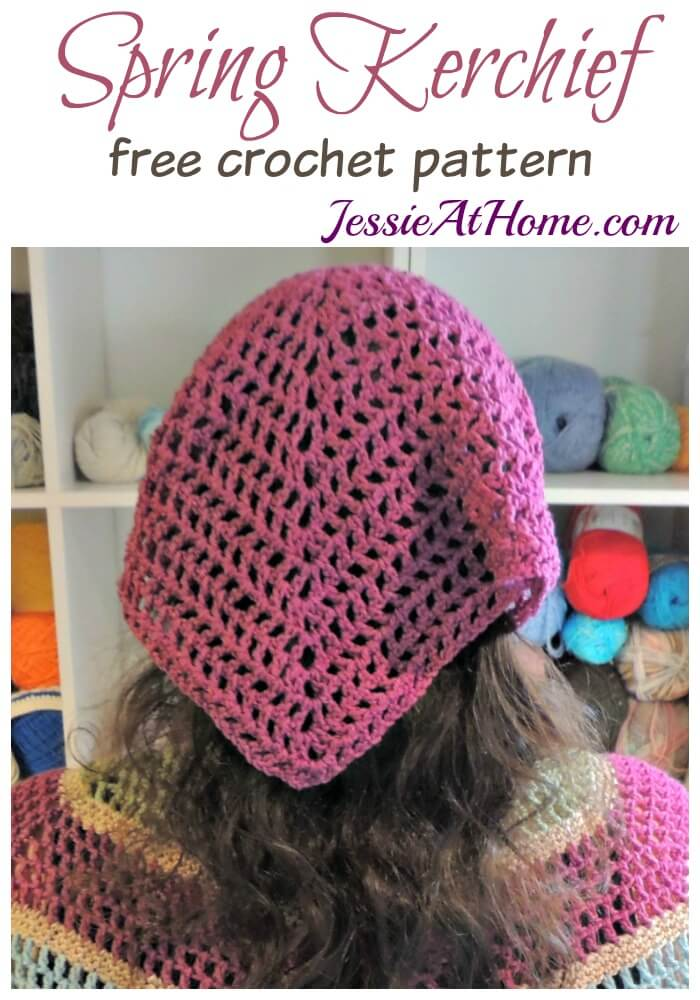 Spring Kerchief free crochet pattern by Jessie At Home