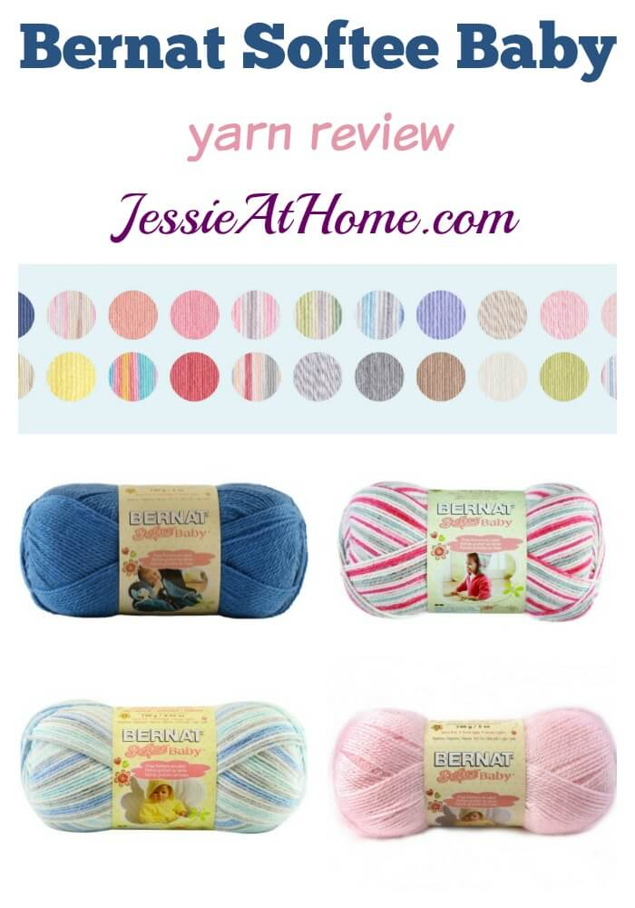 Bernat Softee Baby yarn review from Jessie At Home