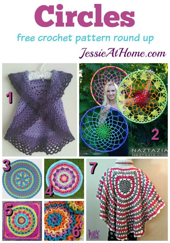 Circles - free crochet pattern round up from Jessie At Home