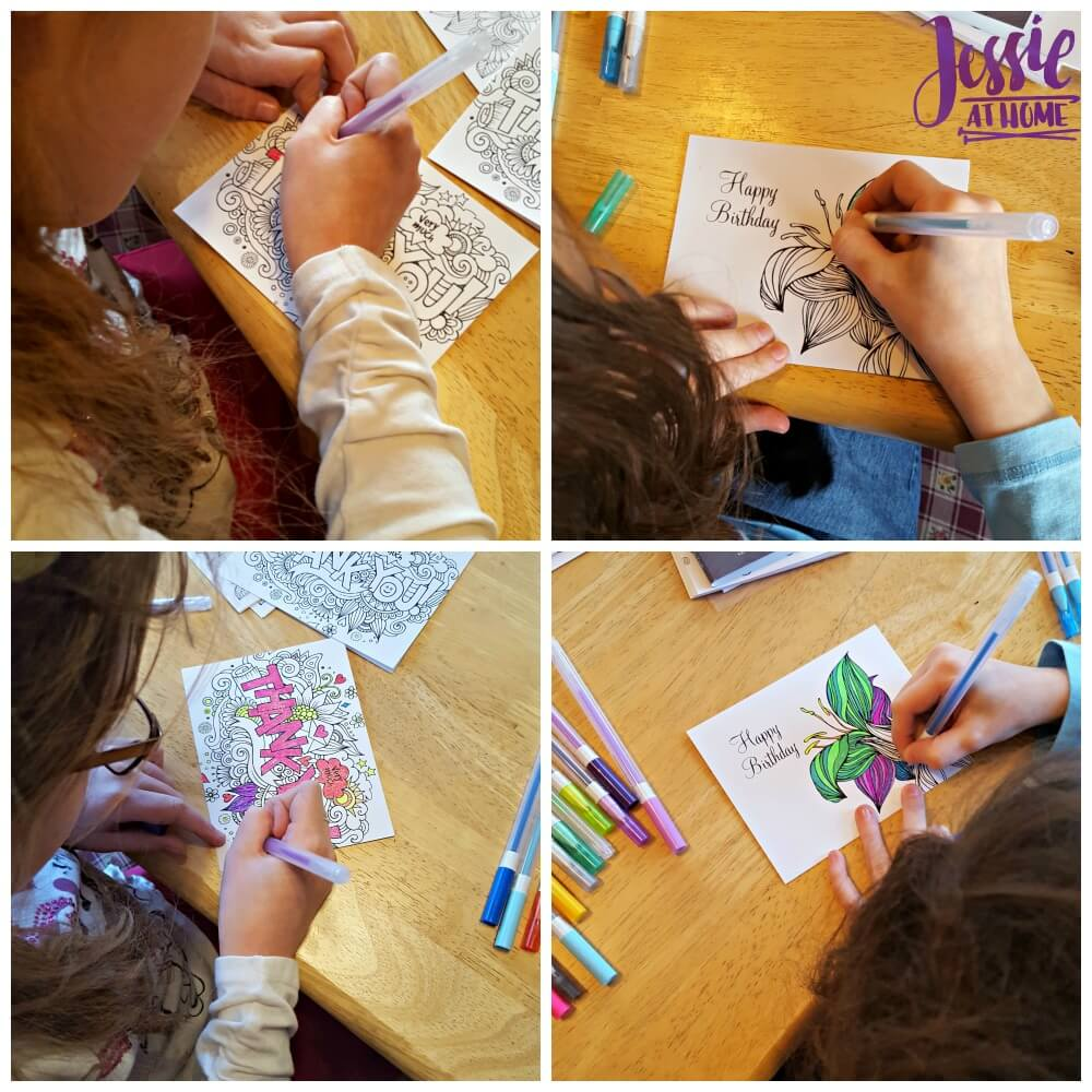 Coloring in the cards