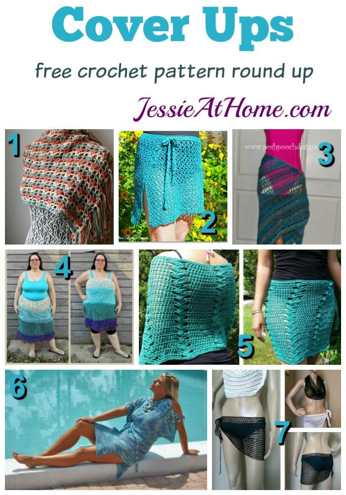 Cover ups free crochet pattern round up from Jessie At Home